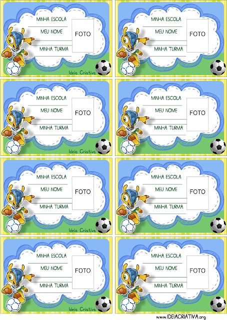 Crachás para imprimir  Copa do Mundo Mascote Fuleco