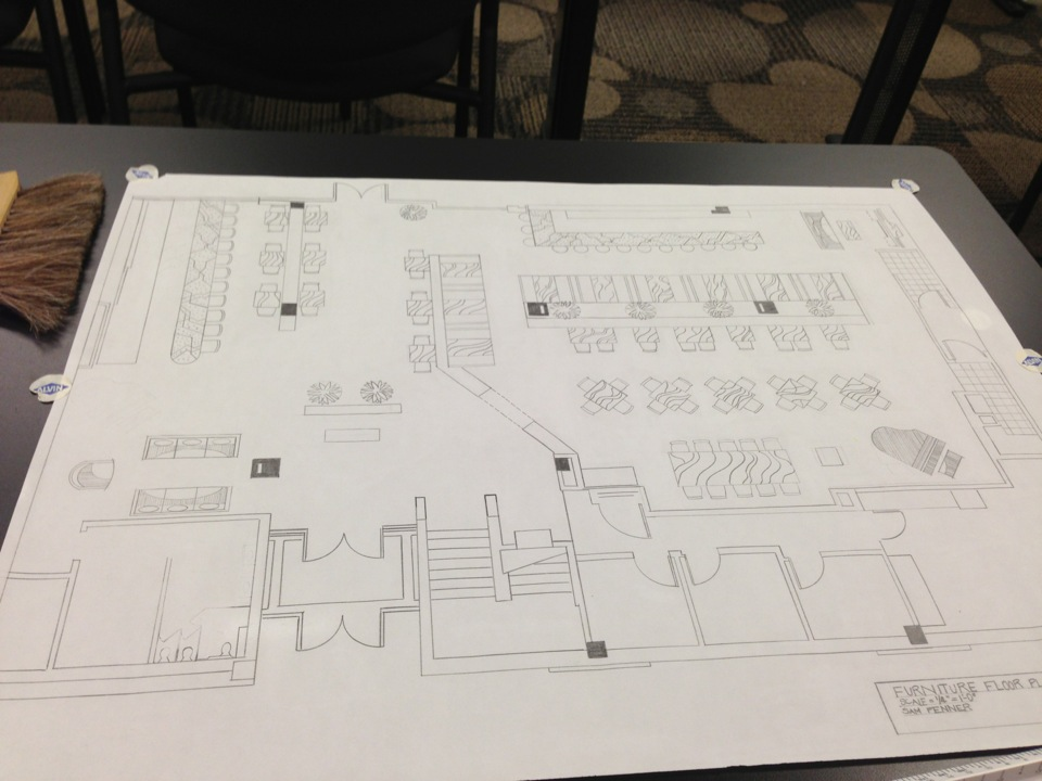 Plan And Elevation Of Restaurant : The peak of tres chic