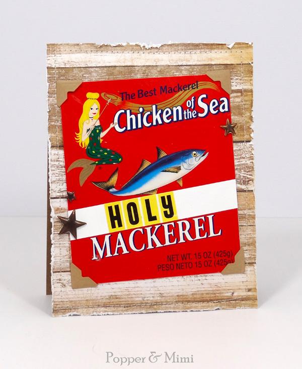 Rustic Holy Mackeral Card
