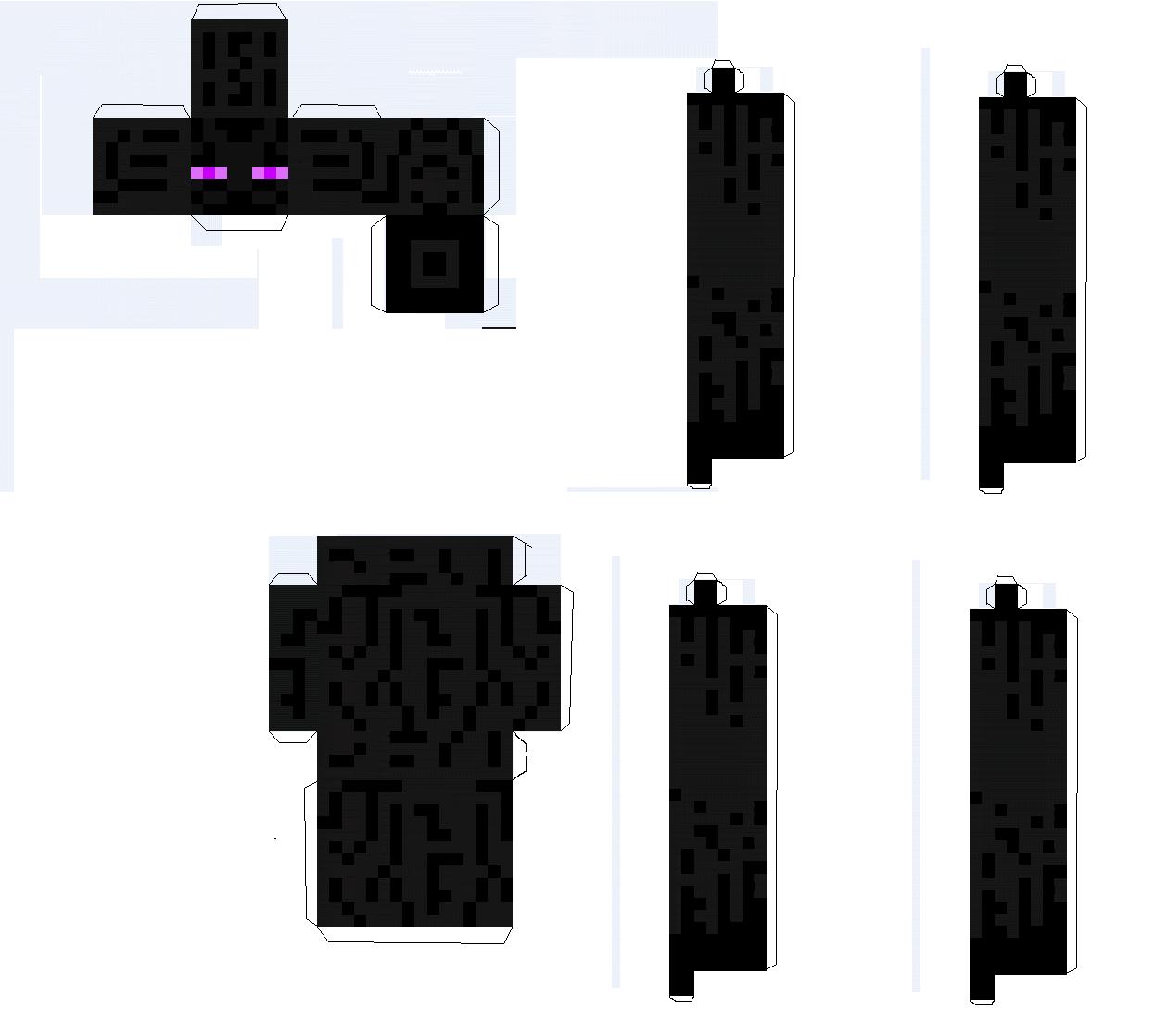 papercraft minecraft mutant enderman wwwimgkidcom
