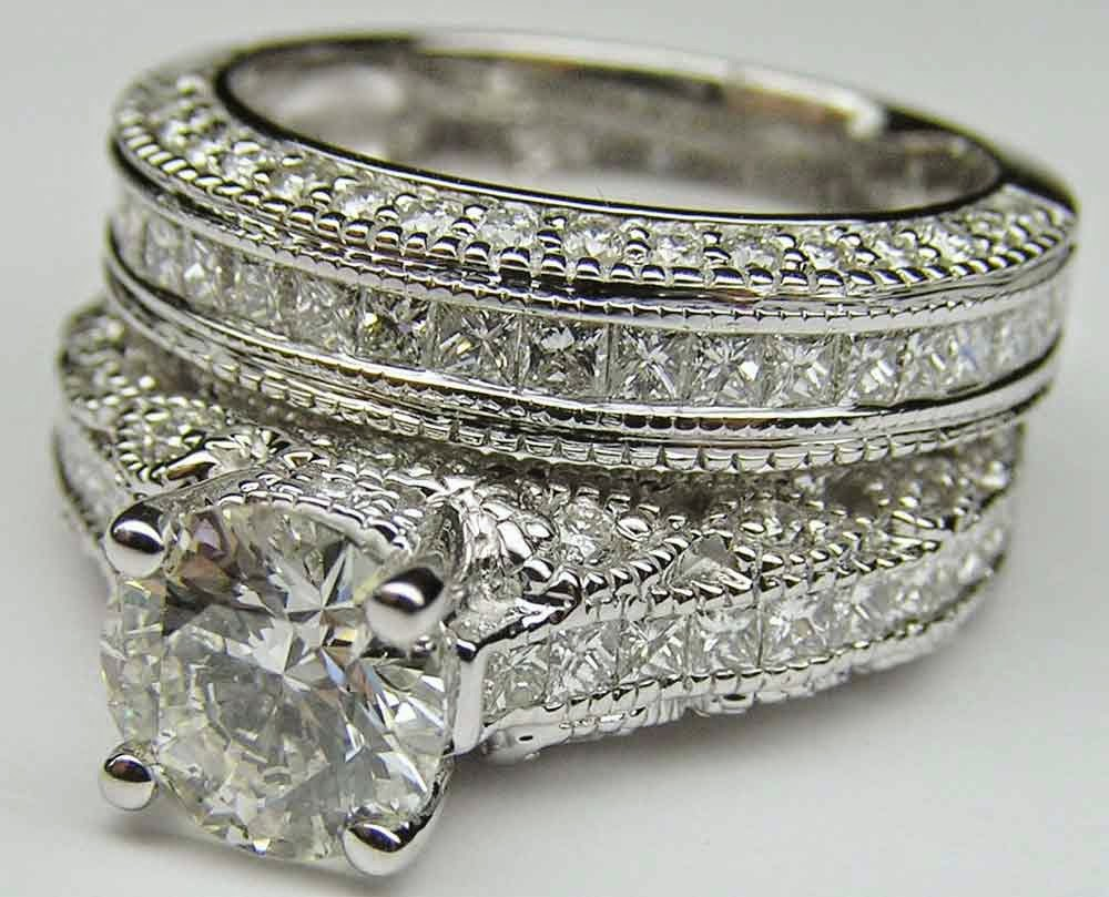 Expensive Matching Diamond Wedding Ring Sets Images