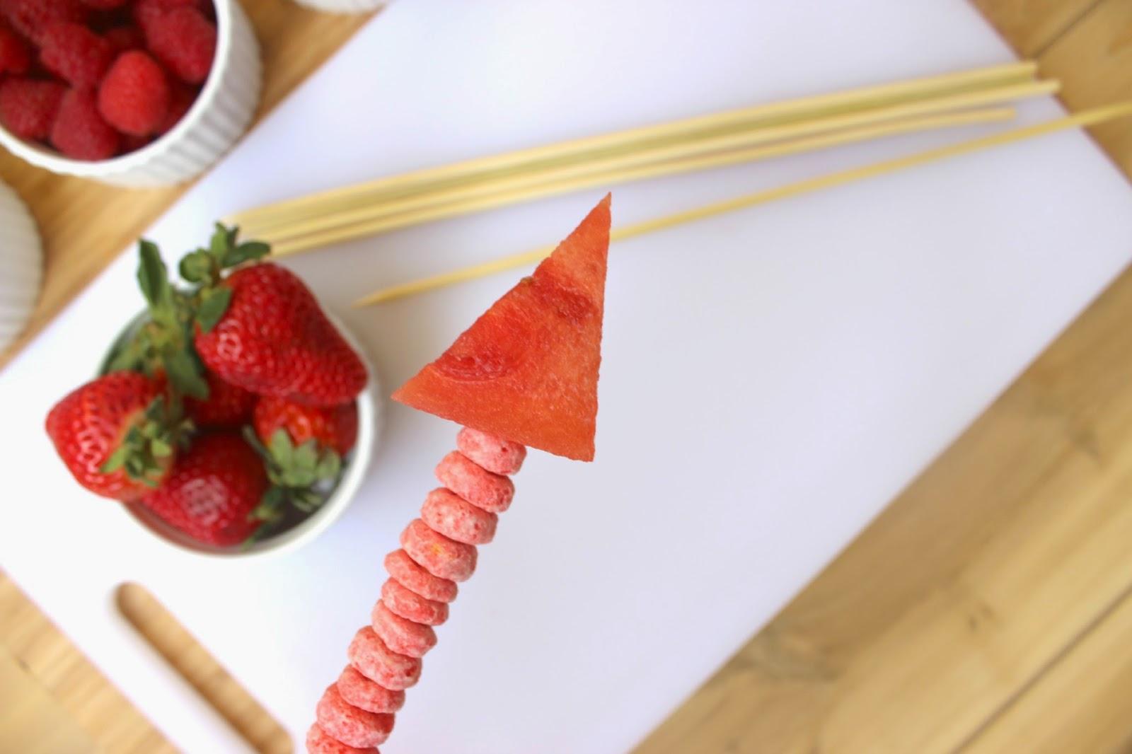Cupid's Arrow Fruit Skewers
