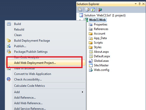 web deployment project You can configure visual studio to use iis when you run a web project, but doing  that would not test your deployment process this method.