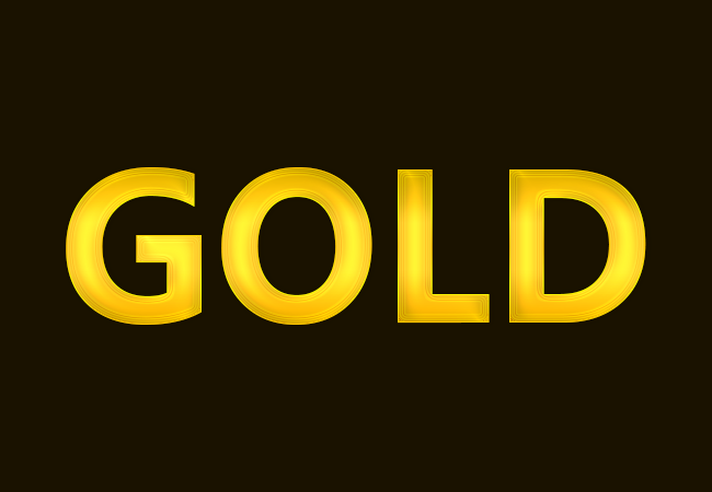 Gold text effect in Photoshop