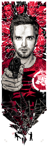 Breaking Gifs Limited Edition Breaking Bad Screen Prints - Jesse Pinkman by Rhys Cooper