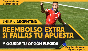 betfair reembolso 25 euros Copa America Chile vs Argentina 4 julio