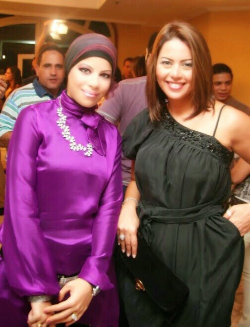 مع الفنانة لقاء الخميسى عام 2009