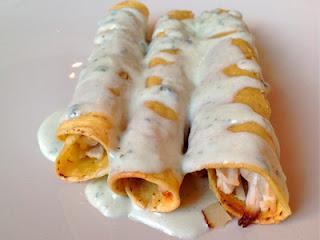 Flautas mexicanas de pollo