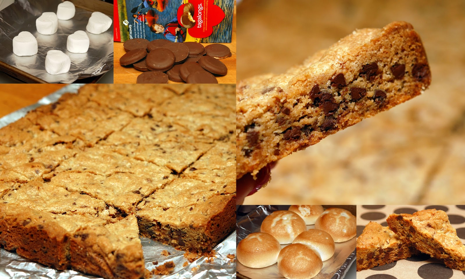 COOKIE BARS STUFFED WITH TOASTED MARSHMALLOWS & GIRL SCOUT TAG ALONGS ...