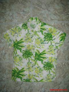 Áo Hawaii hoa văn cây dừa đẹp
