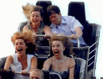 5 ekspresi unik dan lucu ketika orang naik roller coaster