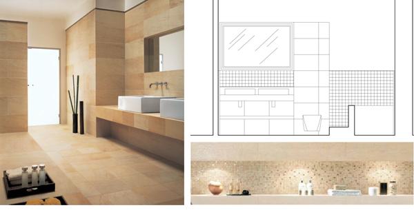 bagno Cementine disegno : CAFElab presenta i nuovi interni di una villa sul lago Maggiore