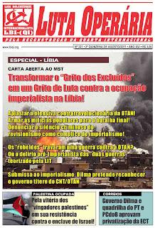 LEIA A EDIÇÃO DO JORNAL LUTA OPERÁRIA Nº 221, 2ª QUINZENA DE AGOSTO/2011