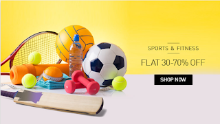 Get Sports and Fitness Bestsellersat flat 30% to 80 % off at Snapdeal