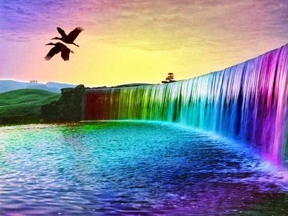 paisajes hermosos de cascadas