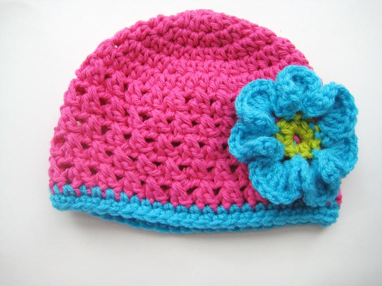 Pattern Crochet Hat With Flower : Crochet Dreamz: Fall Beanie with Flower, Crochet Pattern ...