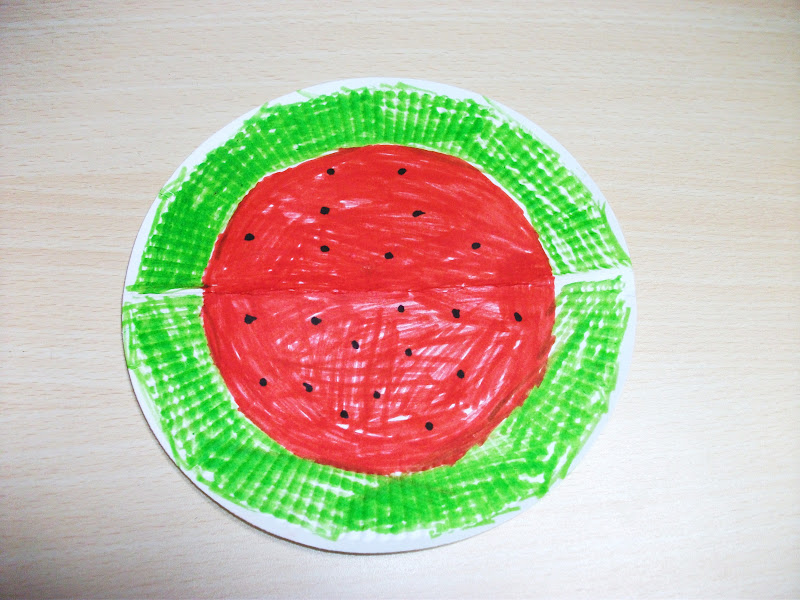 & Summer Watermelon Paper Plate Craft | Preschool Crafts for Kids