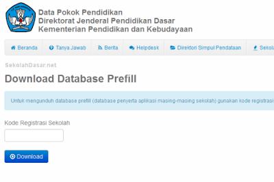 Salah satun yang harus disiapkan operator adalah data prefill dapodik 2013