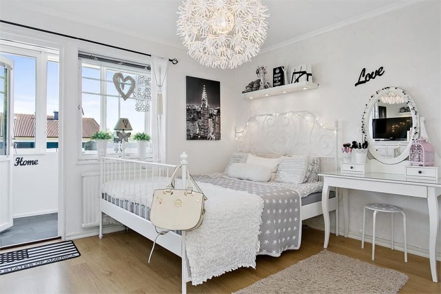 wystrój wnętrz, wnętrza, urządzanie mieszkania, dom, home decor, dekoracje, aranżacje, styl skandynawski, shabby chic, białe wnętrza, jasne wnętrza, biała sypialnia