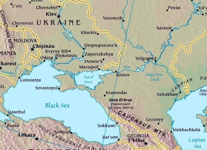 Volga River Russia Map - Volga river on world map