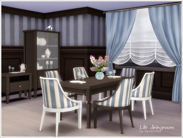 My sims 4 blog lilit dining room set by severinka for Dining room ideas sims 4