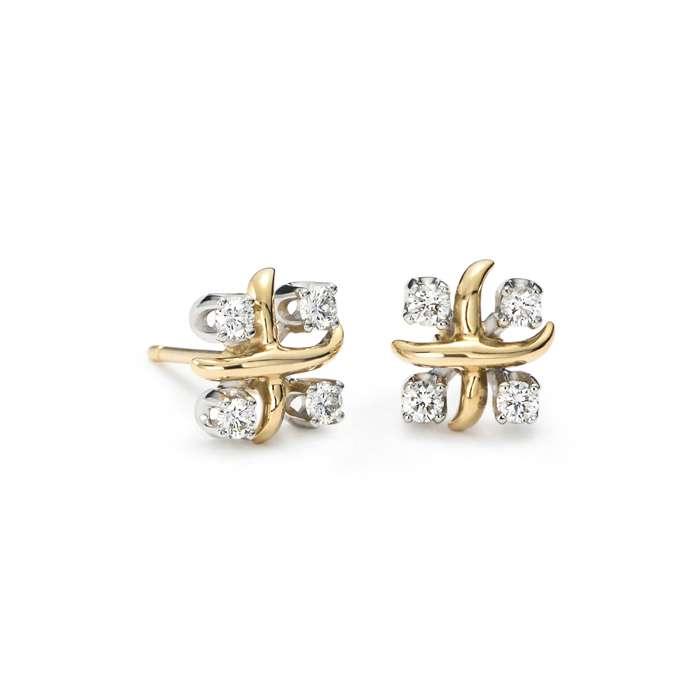 a stock photos gold earring designs
