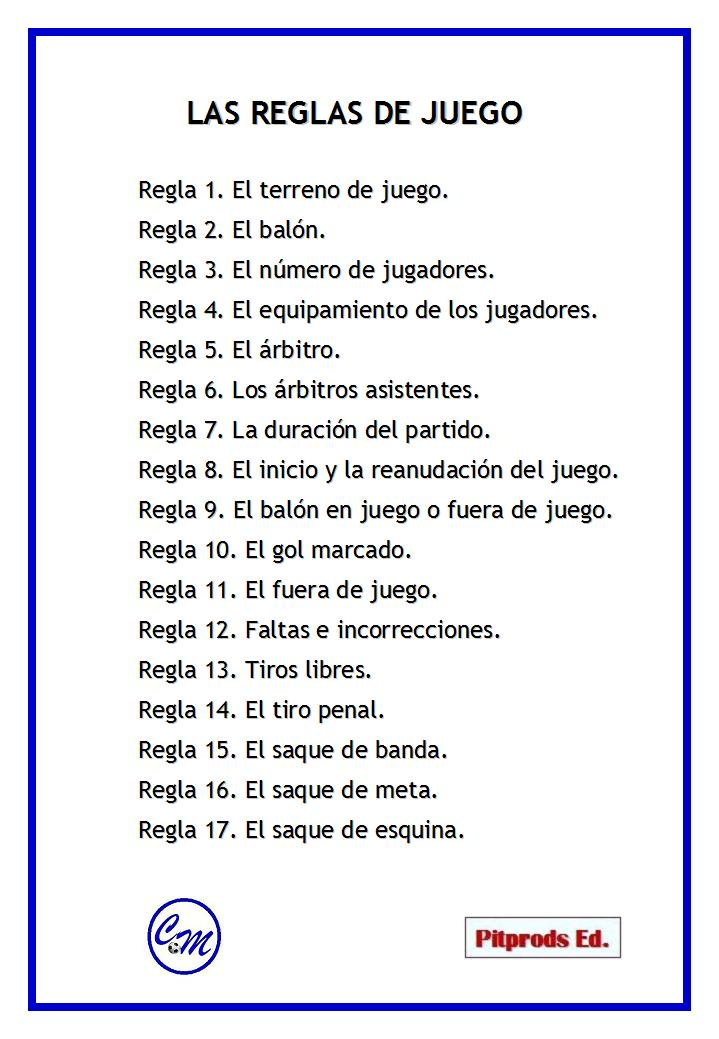 17 reglas del futbol related keywords 17 reglas del for 5 reglas del futbol de salon