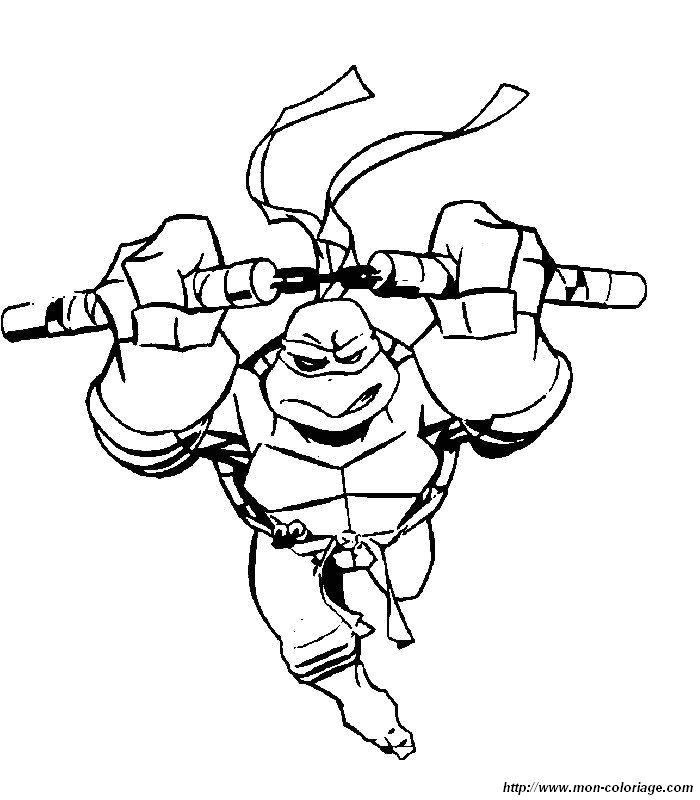 Las Tortugas Ninjas para dibujar pintar colorear imprimir y pegar ...