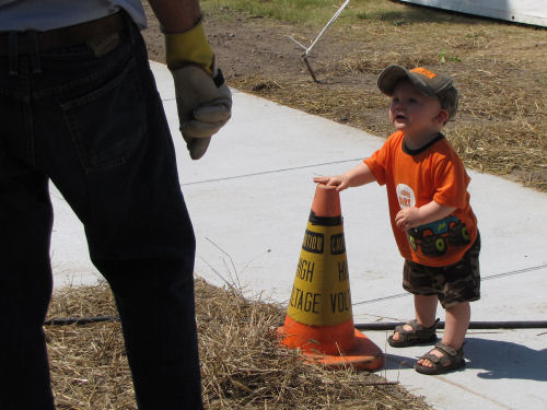 tot with safety cone