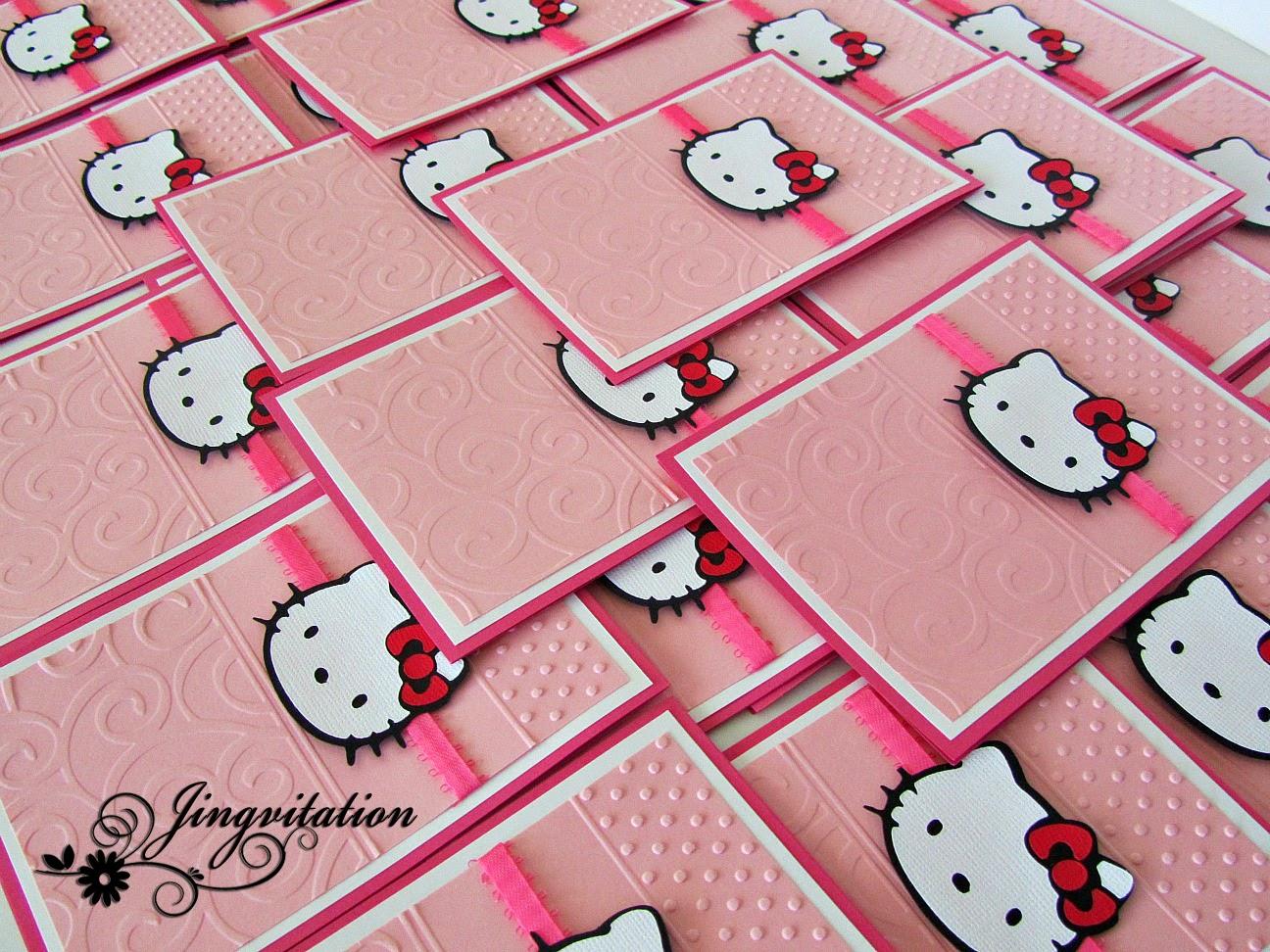 Jingvitations Hello Kitty Birthday Party Invites – Hello Kitty Birthday Party Ideas Invitations