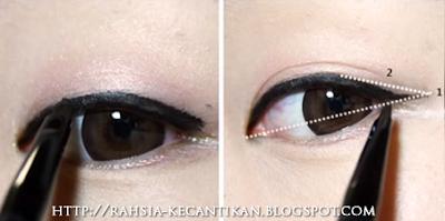 Rahsia Kecantikan Wanita: Make-Up Tutorial : Solekan Mata Korean ...