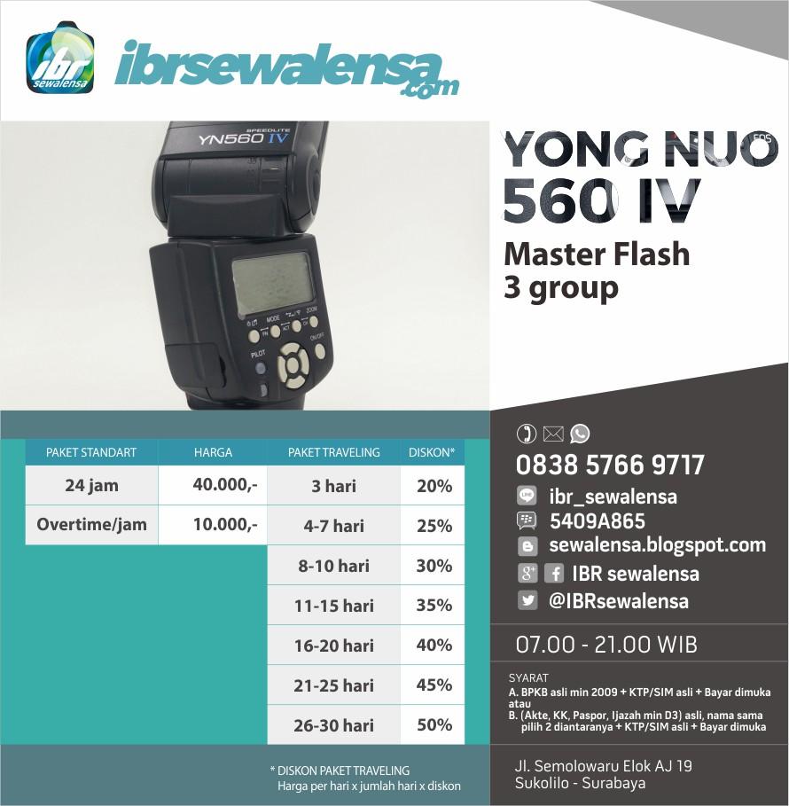 Sewa rental Flash 560 IV