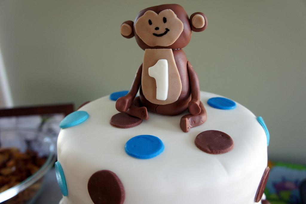 Lombardo Lagniappe: Monkey First Birthday Cake