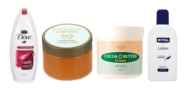 skincare creams bodywash nivea cocoa butter dove