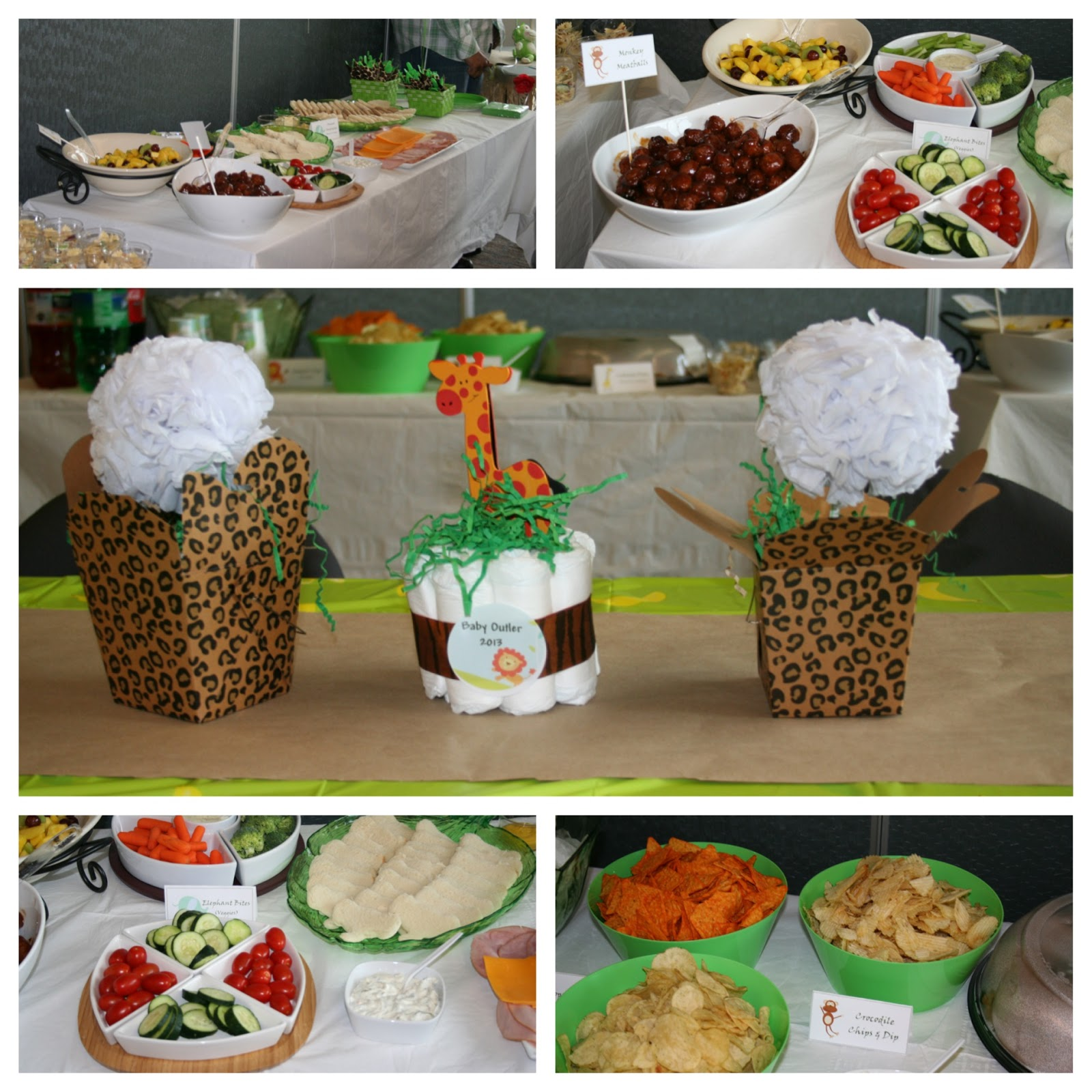 Cordier Events_jungle baby shower_food_decor