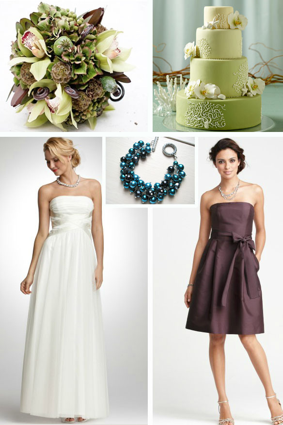 White Sage Plum and Teal are great colors for a rustic earthy wedding