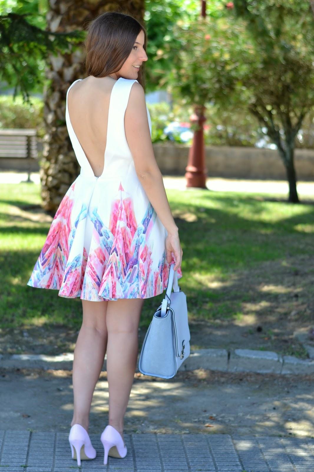 vestido sheinside escote espalda