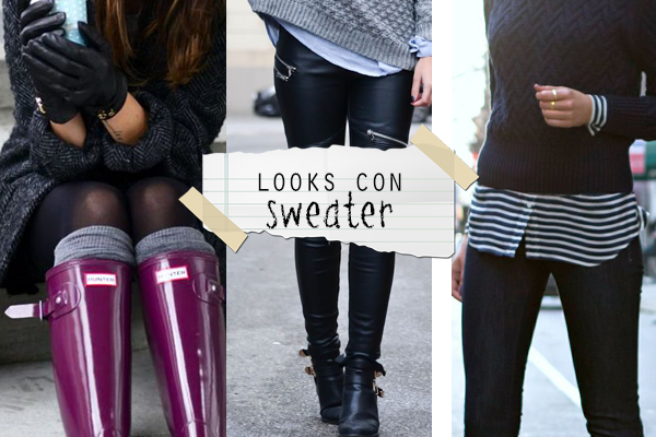 looks con sweater
