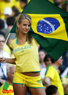 Beautiful Girls Brazilian Football Supporters World Cup