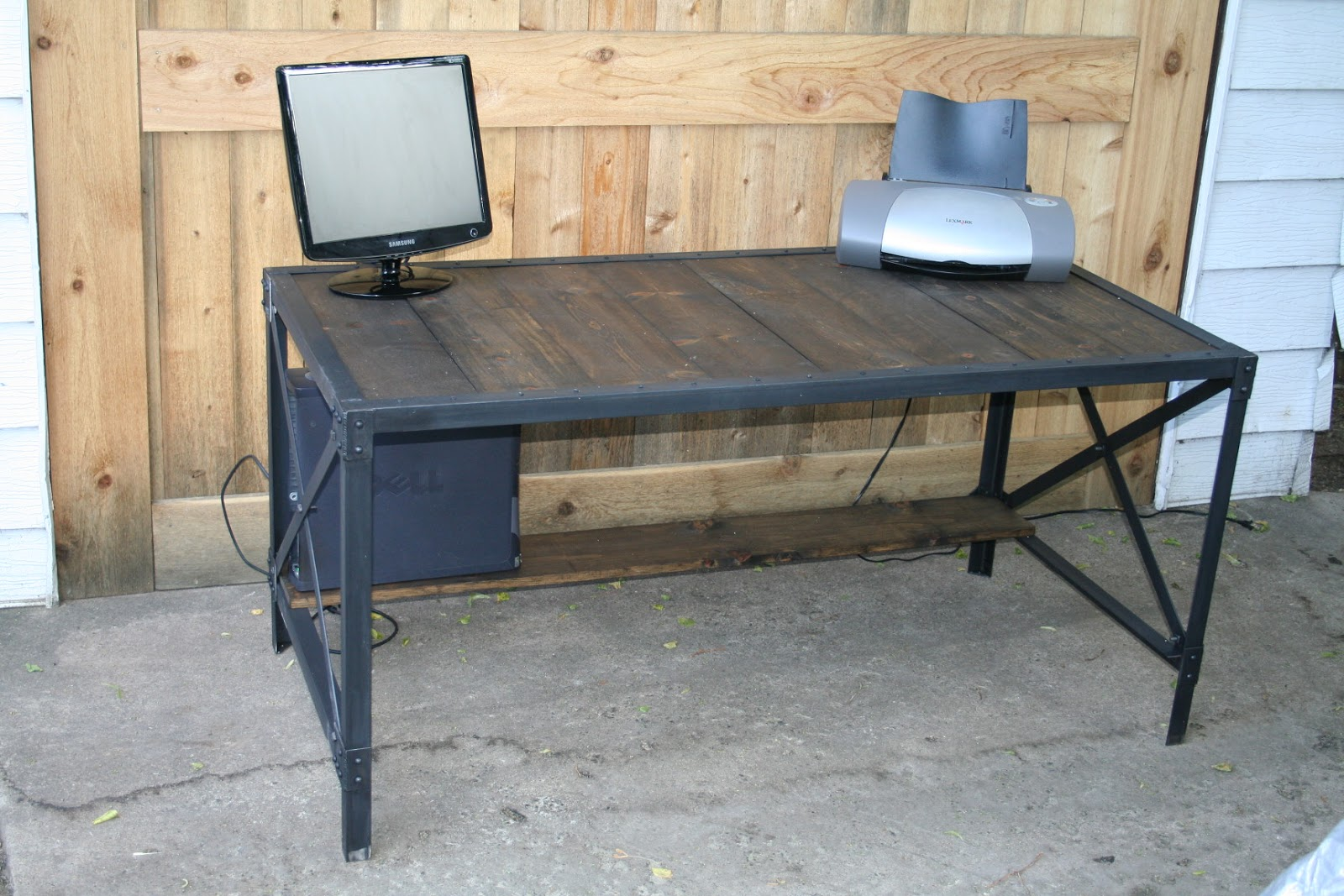 this was a big order of 6 industrial style desks for an office space