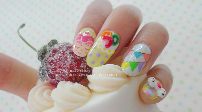 Sara Nail Happy Birthday Nail Art Baby Nail Colors