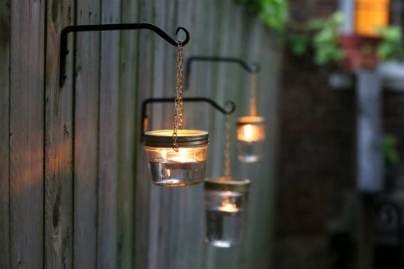 17 Apart Over On EHow DIY Hanging Mason Jar Lights