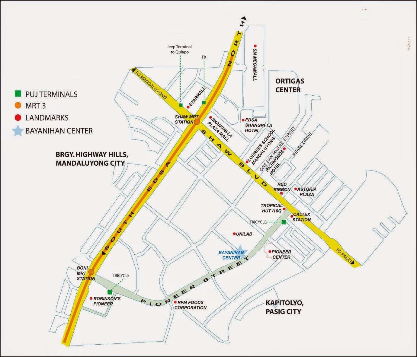 Jeralds Secret HQ Summer Komikon Survival Tips - Mandaluyong map