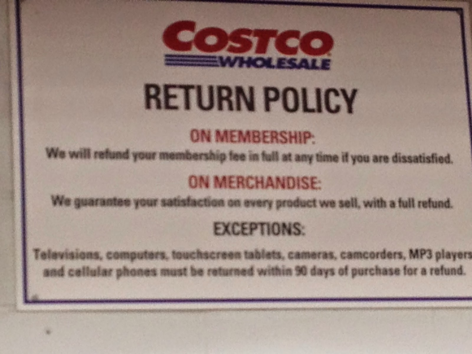 what you 39 re eating costco return policy is only as good as employees