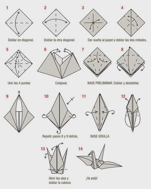 Como hacer una grulla de origami - Imagui