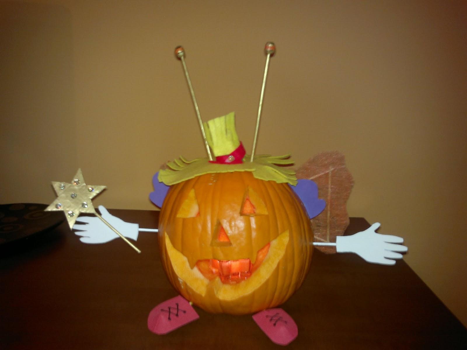 Manualidades mariavril calabaza decorada para hallowen - Manualidades de calabazas ...