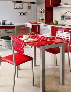 V design de interiores e decora o encarnado em cozinhas - Casa diez cocinas ...