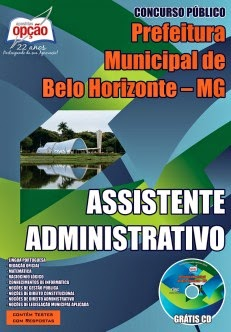 Apostila Concurso Público Prefeitura de Belo Horizonte PBH.