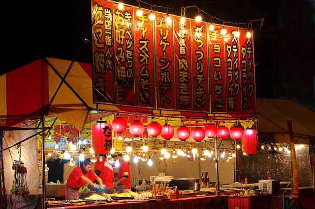 food, tents,la nterns, lights,cooking