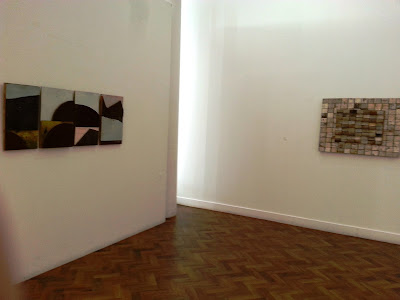 Two works at The Daylight Moon: an exhibition of Rosalie Gascoigne's  work, showing at Goulburn Regional Art Gallery.